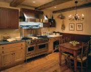 Keep your kitchen warm during winter by lighting lamps and candles