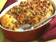 Butter Sausage Bean Casserole