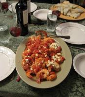 Shrimp Saganaki with Tomato and Feta