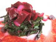 Salad with Raspberry Sauce