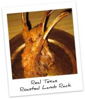 Frenched and Roasted Texan Rack of Lamb