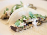 Eggplant Tacos with Spicy Yogurt Salsa