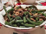 Hot Green Bean and Mushroom Salad