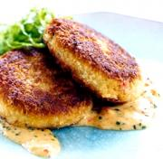Lemon Caper Crab Cakes