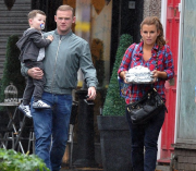 Wayne Rooney and family take home leftovers.