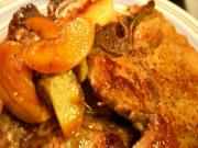 Pork Chops with Wine Cream Sauce and Apples