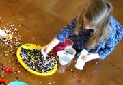 Playing with beans is fun - Get your child to eat beans as well