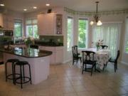 A spacious, well lit kitchen