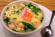 Egg Drop Soup with Spinach and Mushroom