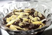 Chocolate Custard With Mandarin Oranges
