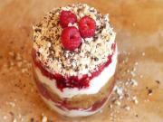 Cherry Raspberry and Chocolate Tiramisu - Valentines Dessert Idea