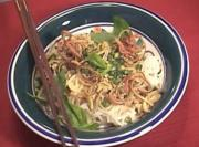 Thai Rice Vermicelli with Naamya Sauce Khanom Jeen Naamya