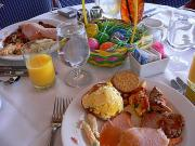 Enjoy Easter Brunch with blintzes, waffles, seasonal fruits, chilled seafood and gourmet desserts.