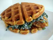 Easy Chicken and Waffle Sandwich