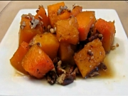 Butternut Squash with Pecans and Maple Syrup