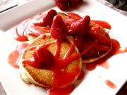 Cheese Pancakes With Strawberries