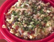 Okonomiyaki in the Microwave