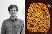 Kevin and one of his fingerprints