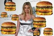 Lara Stone is interested in burgers too.