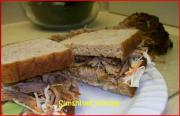 Solar Cooked Cajun Spiced Pulled Pork Po' Boy Sandwich