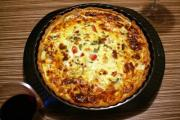 Salmon Quiche With Mushrooms