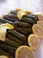 Mediterranean Stuffed Grape Leaves