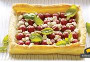 Tomato Basil And Goat Cheese Tart