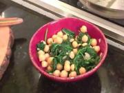 Marinated Chickpeas and Sautéed Spinach