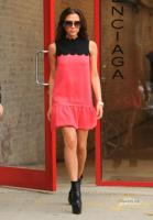 A very slim Victoria Beckham leaving Balenciaga store in NYC on Sep 11