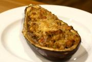 Chili-Stuffed Eggplant