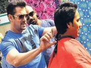 Salman Khan turns Barber for a Day on 'Mission Sapne'