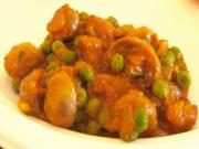 Pea and Mushroom Curry