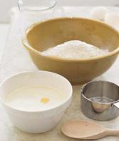Ingredients needed to bake a cake