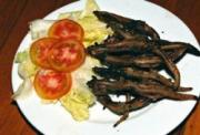 The grilled lizard with salad