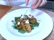 Roasted Golden Beet Salad with Baby Watercress, Endives, Goat Cheese and Walnuts
