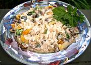 Fettucini Alfredo Primavera (with Vegetables)