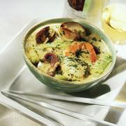 Seafood Curry with Coconut, Citrus and Cucumber