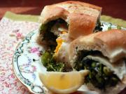 Roasted Broccoli and Fried Egg Sandwich