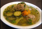 Hearty Meatballs Soup