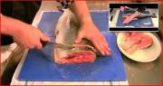 How to Cut a Salmon Steak Cutlet from a Fresh Salmon