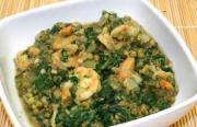 Shrimps With Monggh And Spinach
