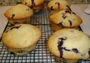 Cool Holiday Blueberry Muffins