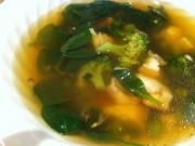 Clear Fish Soup with Greens & Ginger