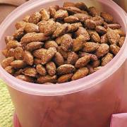 Toasted almonds for rice pilaf