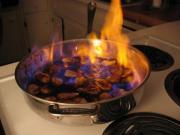 Herbed Veal Kidneys Flambed