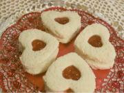 Cream Cheese and Strawberry Heart Sandwiches
