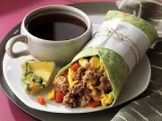 Beef burrito for breakfast