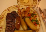 Authentic Grilled Garlic New York Strip Steak