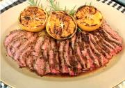 Party Fennel-Rubbed Flank Steak with Grilled Oranges