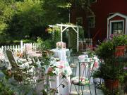 Garden provides ideal setting for first spring day party